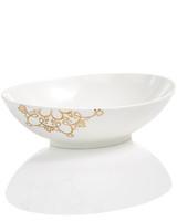 embossed serving bowl