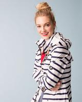 stripe raincoat