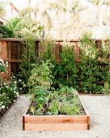 california house vegetable garden bed