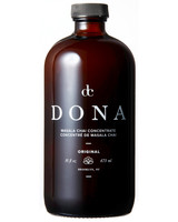 dc dona chai concentrate in brown glass bottle