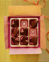 chocolates wrapping box hearts