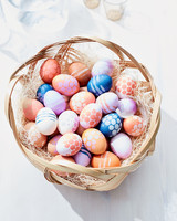 painted egg basket