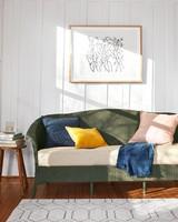 painted wicker sofa living room