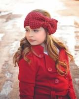 ear warmer with bow
