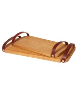oak tray leather handles gift guide 2017 home