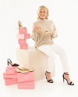payless pink shoe boxes with martha