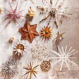 star and snowflake ornaments
