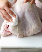 turkey prep stuffing drying bird
