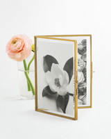 gold picture frame with flowers