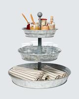 Martha Stewart Collection galvanized three-tiered server