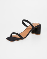 black Minimal string sandals