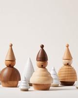 traditional german wooden incense burner figures
