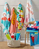 hanging beach towels