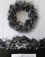 black foliage halloween wreath
