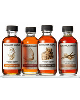 runamok maple organic flavor infused syrups in glass bottles