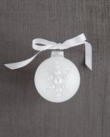 pearl snowflake ornament DIY