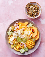tropical fruit salad pistachio crunch