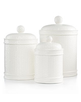macys canisters white