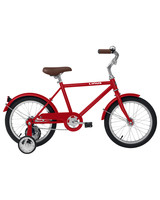 red lil roadster bike with training wheels