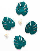 DIY monstera tropical coasters finished