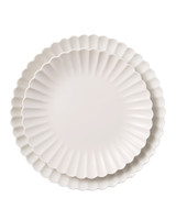 Macys white scallop dishes 194 d113043
