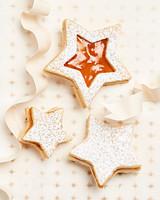 anise shortbread linzer cookies