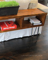sofa table wood and pipe american made