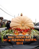 art and pumpkin festival parade float