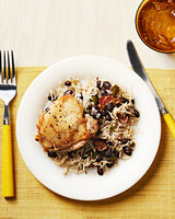 one pan cuban chicken with rice beans