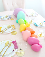 pastel rainbow Easter egg centerpiece