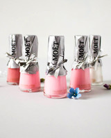 nail polish bottle bubbly party favors