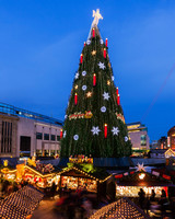 Christmas Tree at Hansaplatz in Dortmund