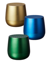 colorful metallic bluetooth speakers