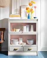 painted wood barrister bookcase