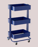 kids craft and toy storage rolling cart