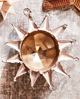 pressed-lead 12-point star ornament