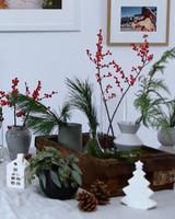 holiday flower arranging