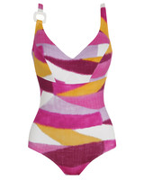 swimsuit pink gold white purple