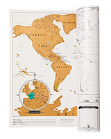 Pottery Barn's scratch-off map