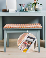 reupholstered storage bench