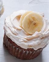 banana cupcakes with caramel buttercream