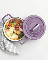 lavender cast iron pot