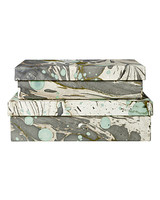 marbleized paper storage boxes