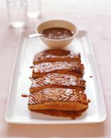 salmon with honey coriander glaze