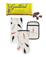 kate spade oven mits and guittard chocolate chips