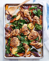 Pan-Roasted Chicken with Za'atar, Potatoes, and Greens
