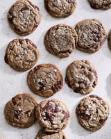 sea salt buckwheat chocolate chip cookies