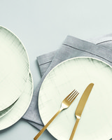 Martha Stewart Collection Harvest crosshatch dinner plates