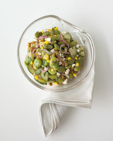 Fava Bean Salad with Roasted-Garlic Vinaigrette