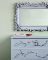 Painted Leaf-Applique Furniture Set